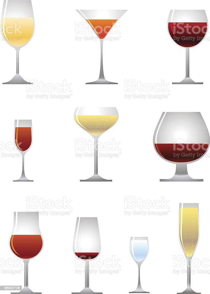 collection of alcoholic drink vector art illustration