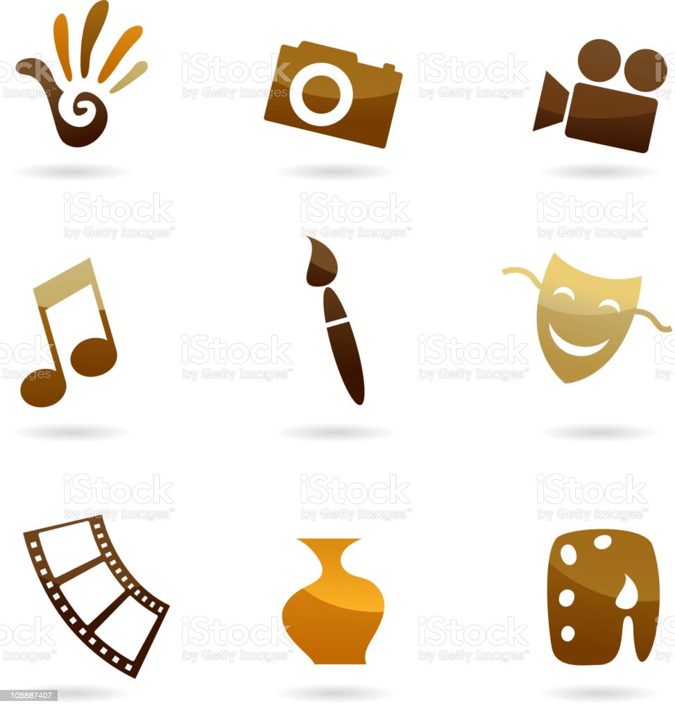 collection of arts icons royalty-free stock vector art