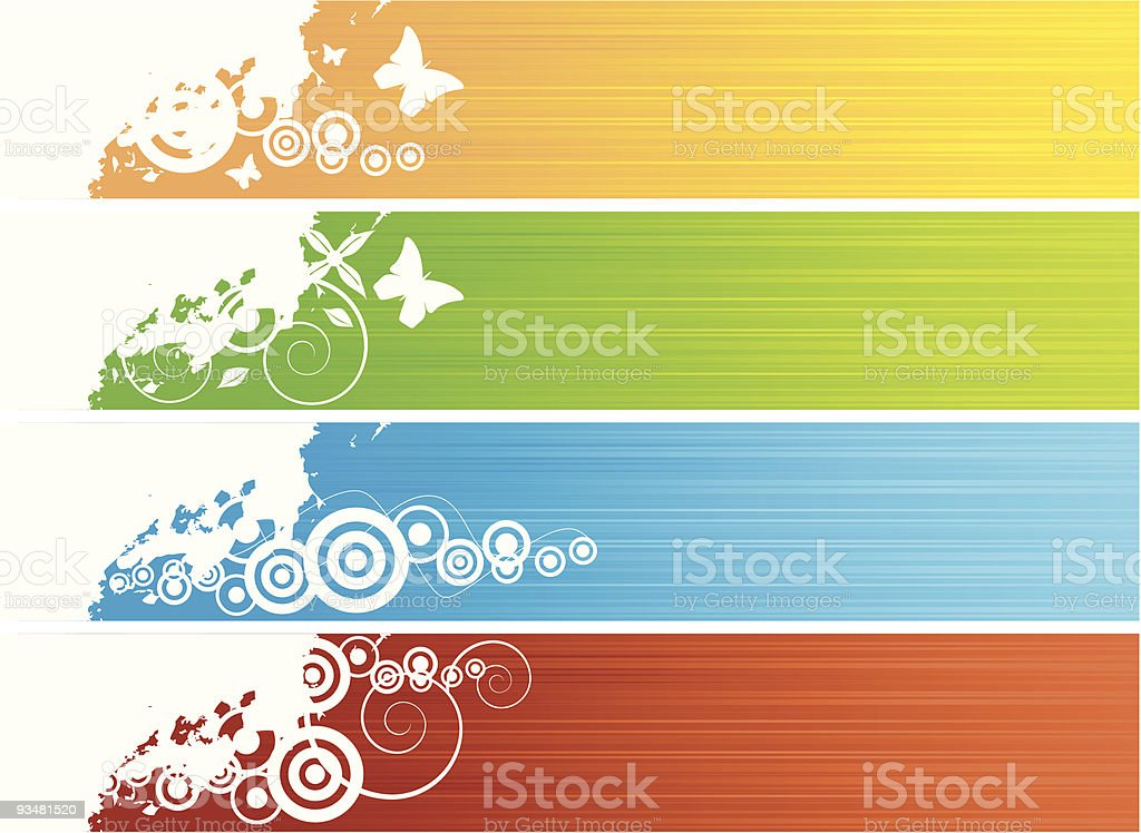 Collection of banners royalty-free stock vector art