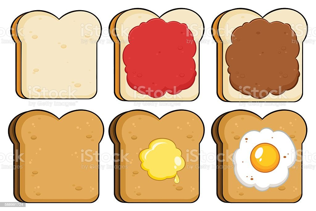 Collection of Bread Slice - 2 vector art illustration