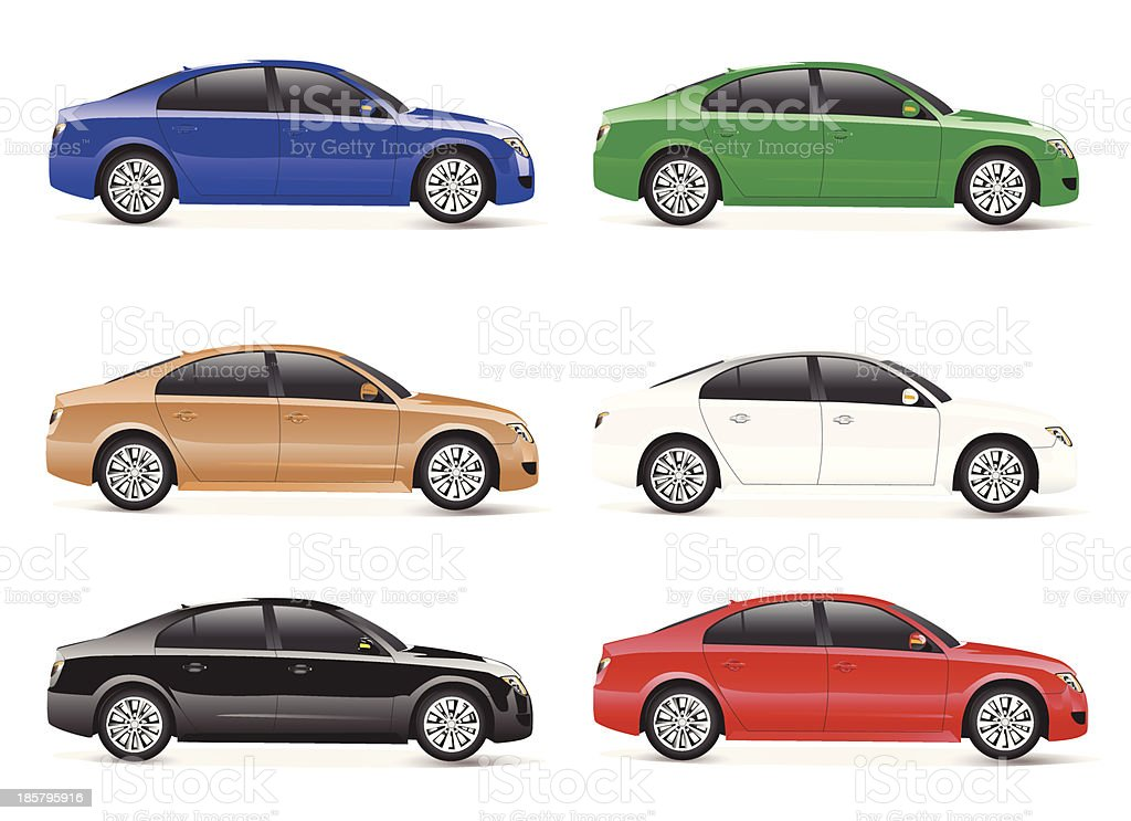 Collection of Cars Vector royalty-free stock vector art