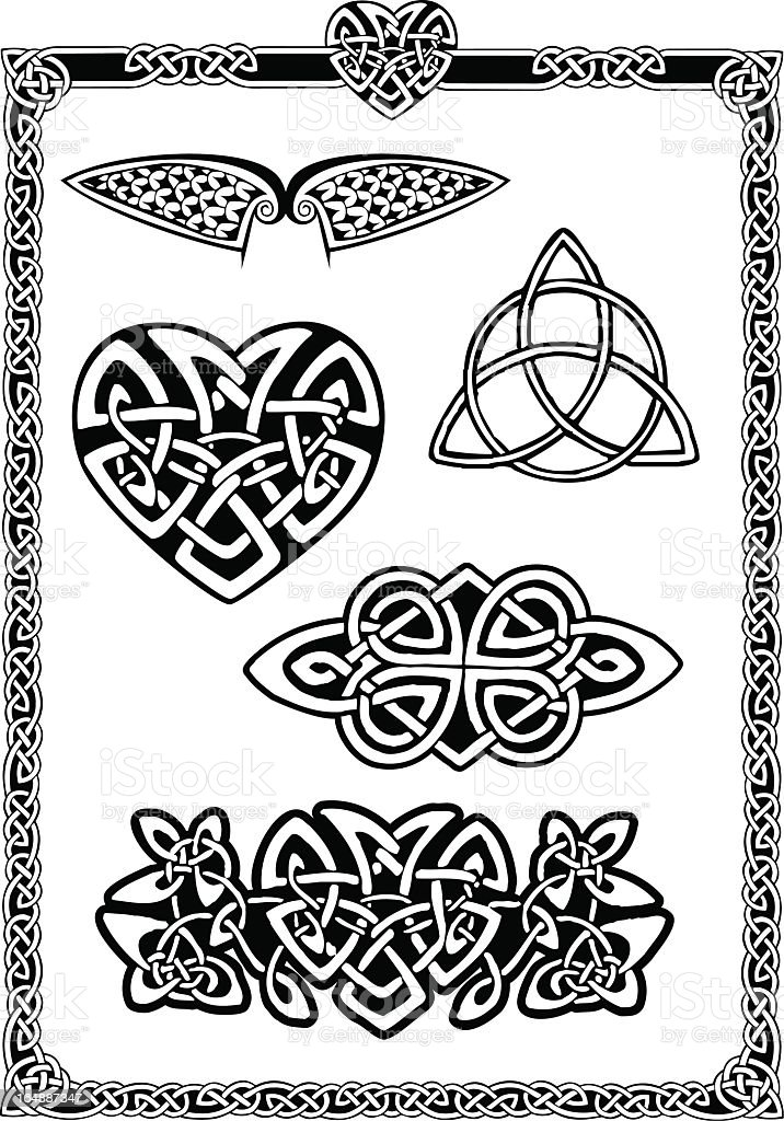 Collection of Celtic Art Pt1 royalty-free stock vector art