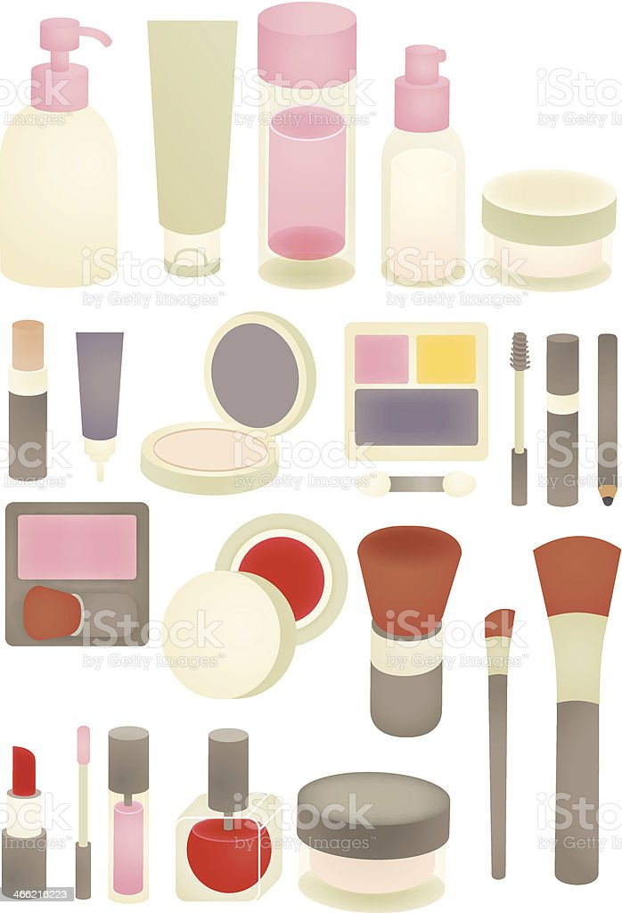 Collection of Chic makeup Icon - Vector File EPS10 royalty-free stock vector art