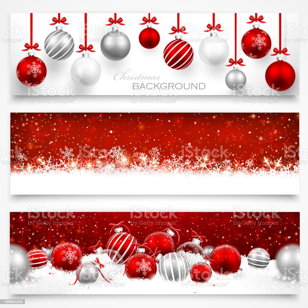Collection of Christmas banners vector art illustration