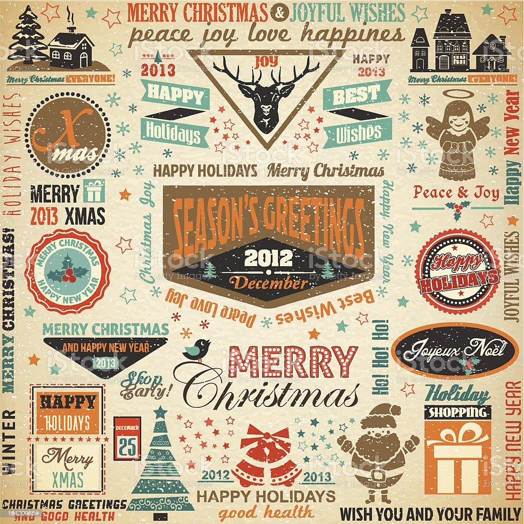 Collection of Christmas Design Elements.Vector Illustration royalty-free stock vector art