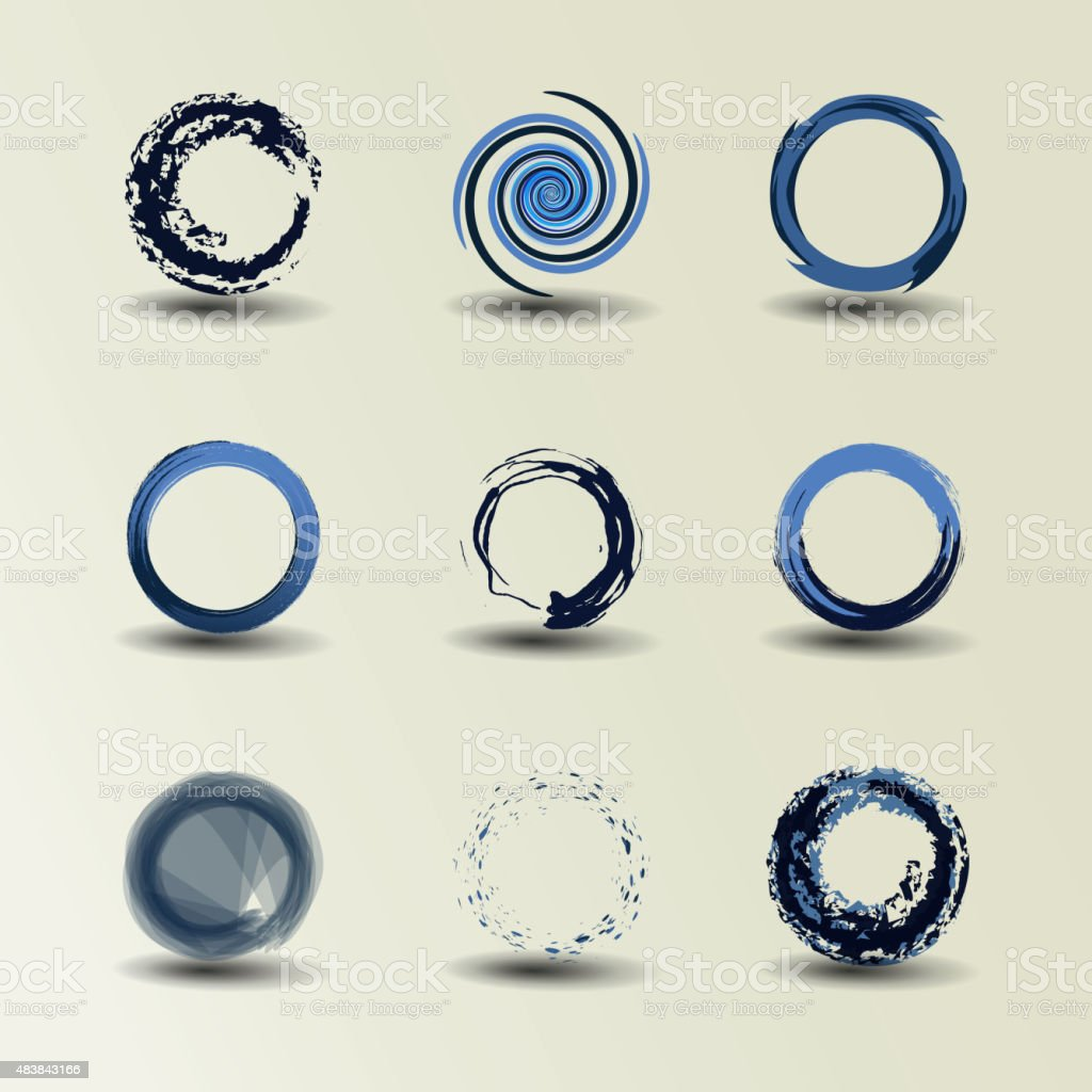Collection Of Circle Designs vector art illustration