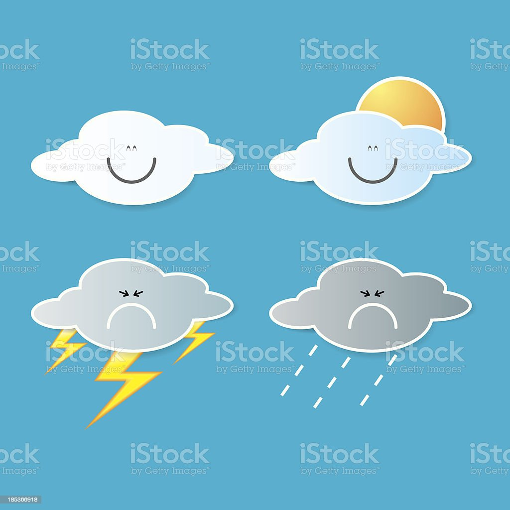 collection of clouds, Weather icon for design. royalty-free stock vector art