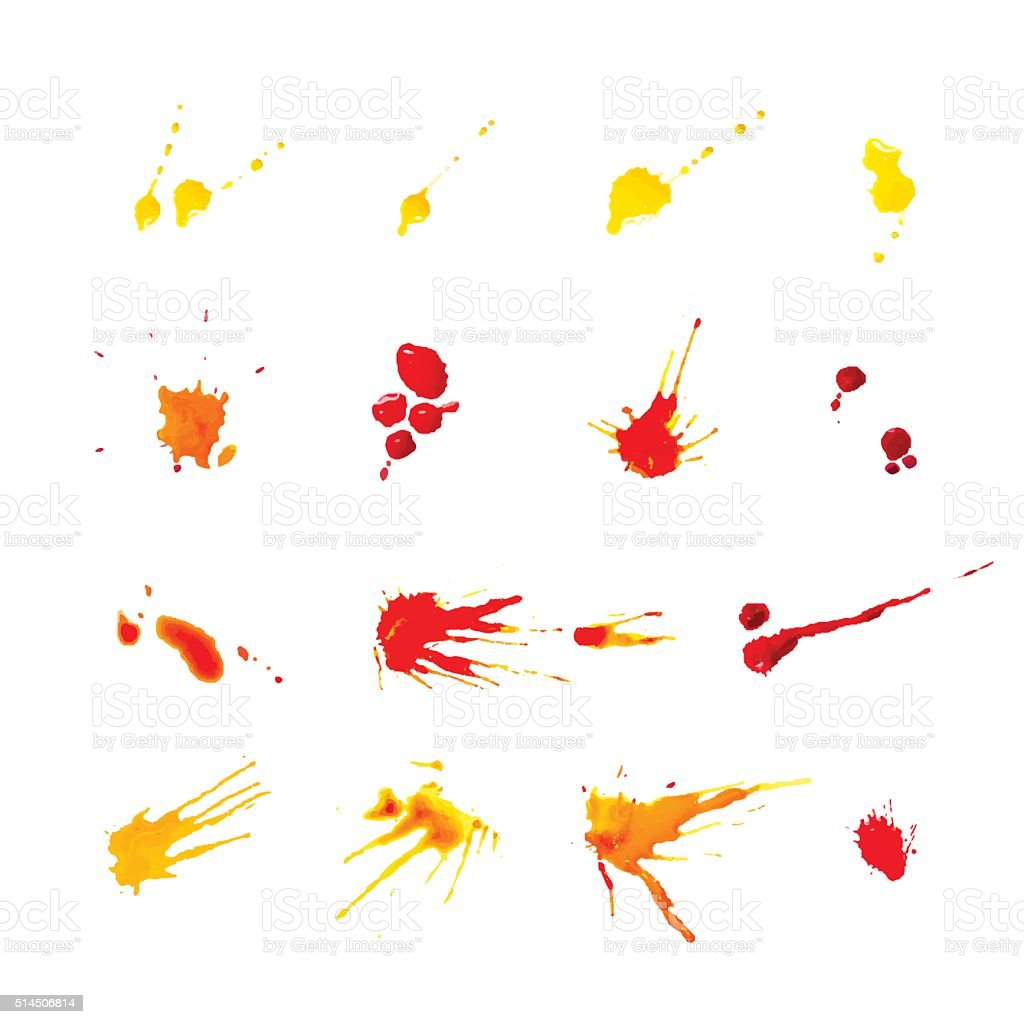 collection of colorful blots vector art illustration