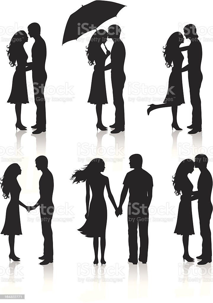 Collection of couples. vector art illustration