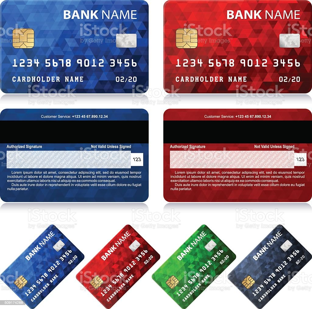 Collection of Credit Card Designs vector art illustration