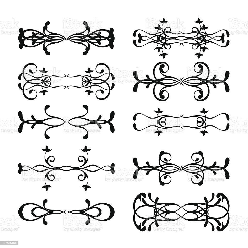Collection of design elements royalty-free stock vector art
