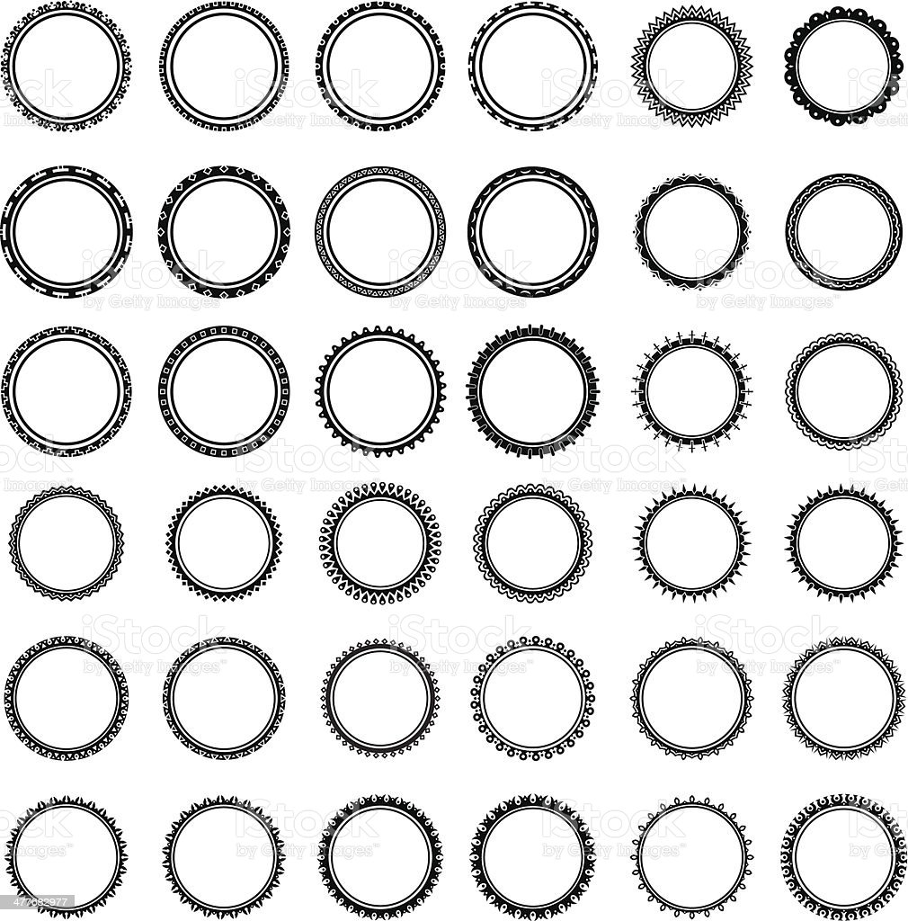 collection of different round labels without text royalty-free stock vector art