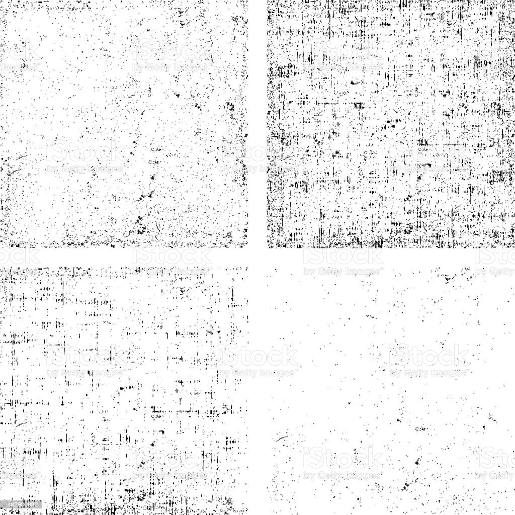 Collection of dirt grunge texture overlay any objects vector art illustration