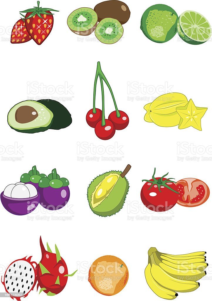 Collection of fruit royalty-free stock vector art