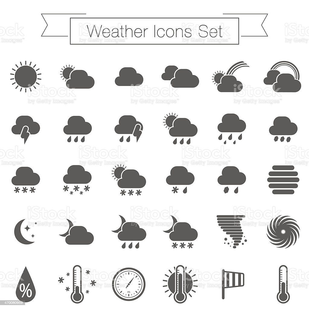 Collection of gray Werther O'Connor vector art illustration