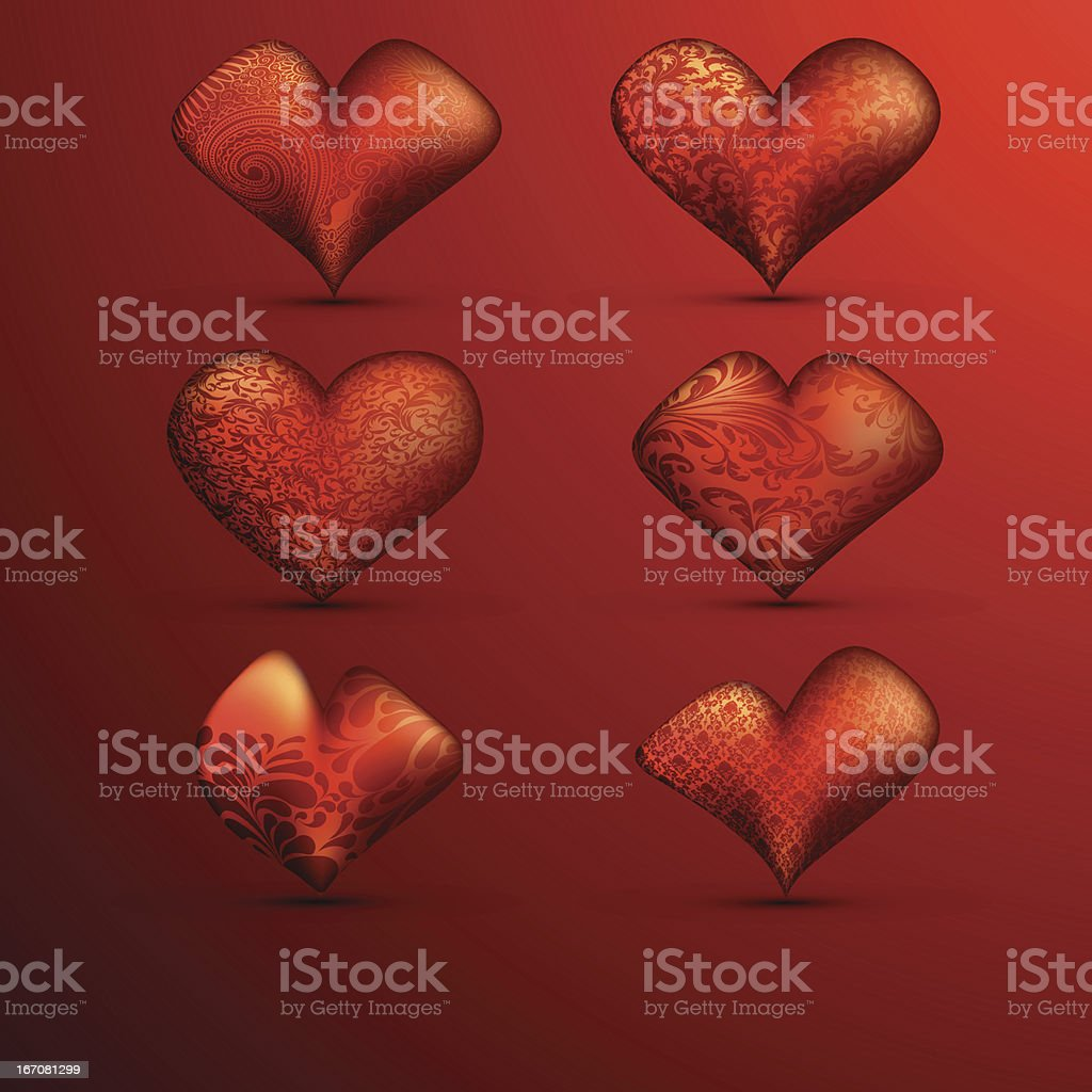 Collection of Heart's vector art illustration