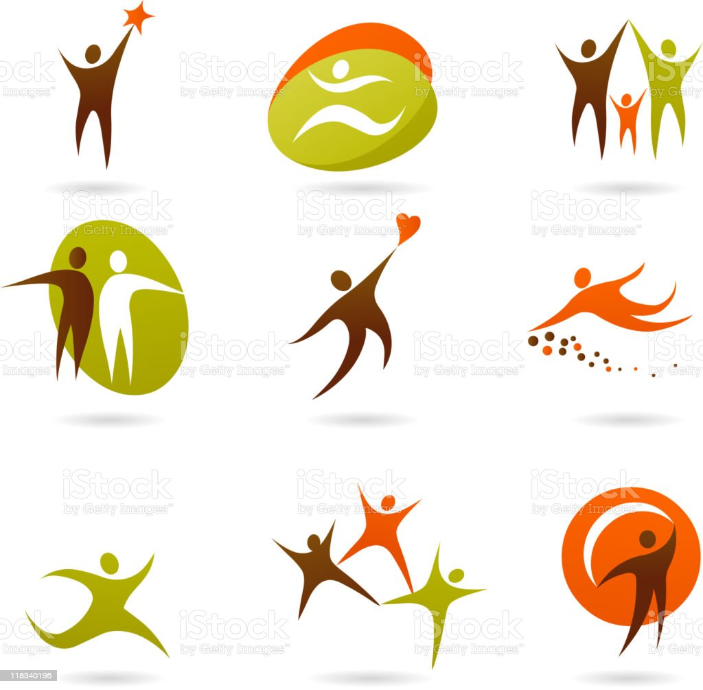 collection of human icons vector art illustration