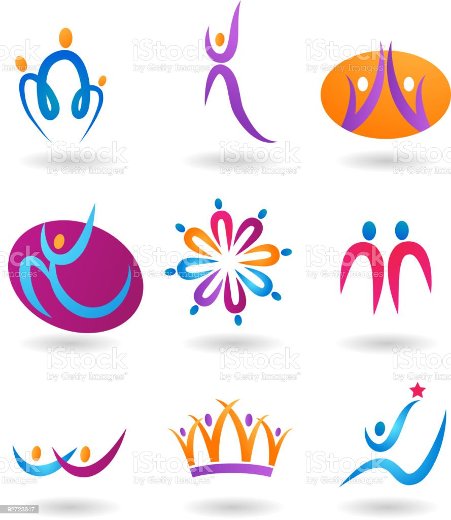 collection of human icons royalty-free stock vector art