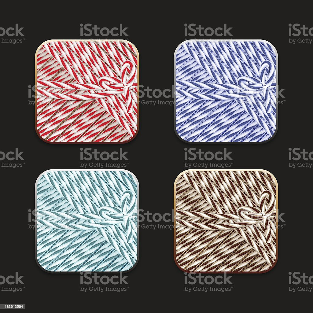 Collection of icons in twine stile vector art illustration