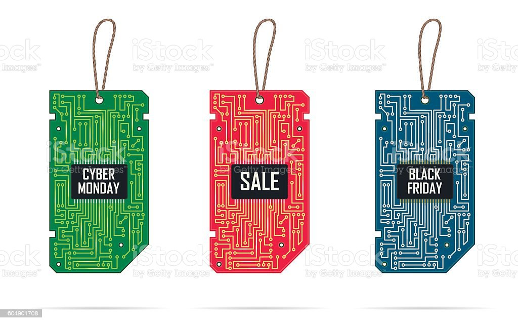 Collection of modern design labels tags. vector art illustration