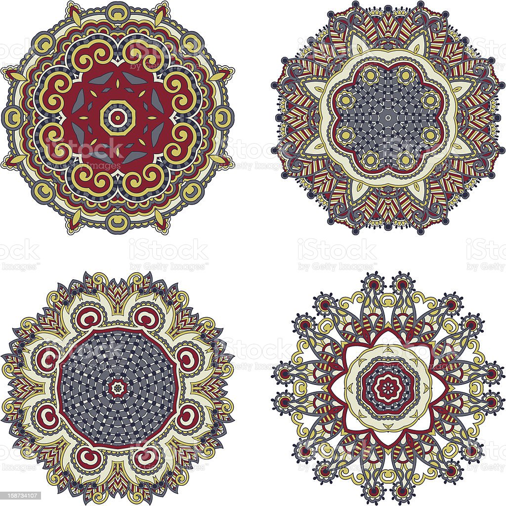 collection of ornamental round lace royalty-free stock vector art