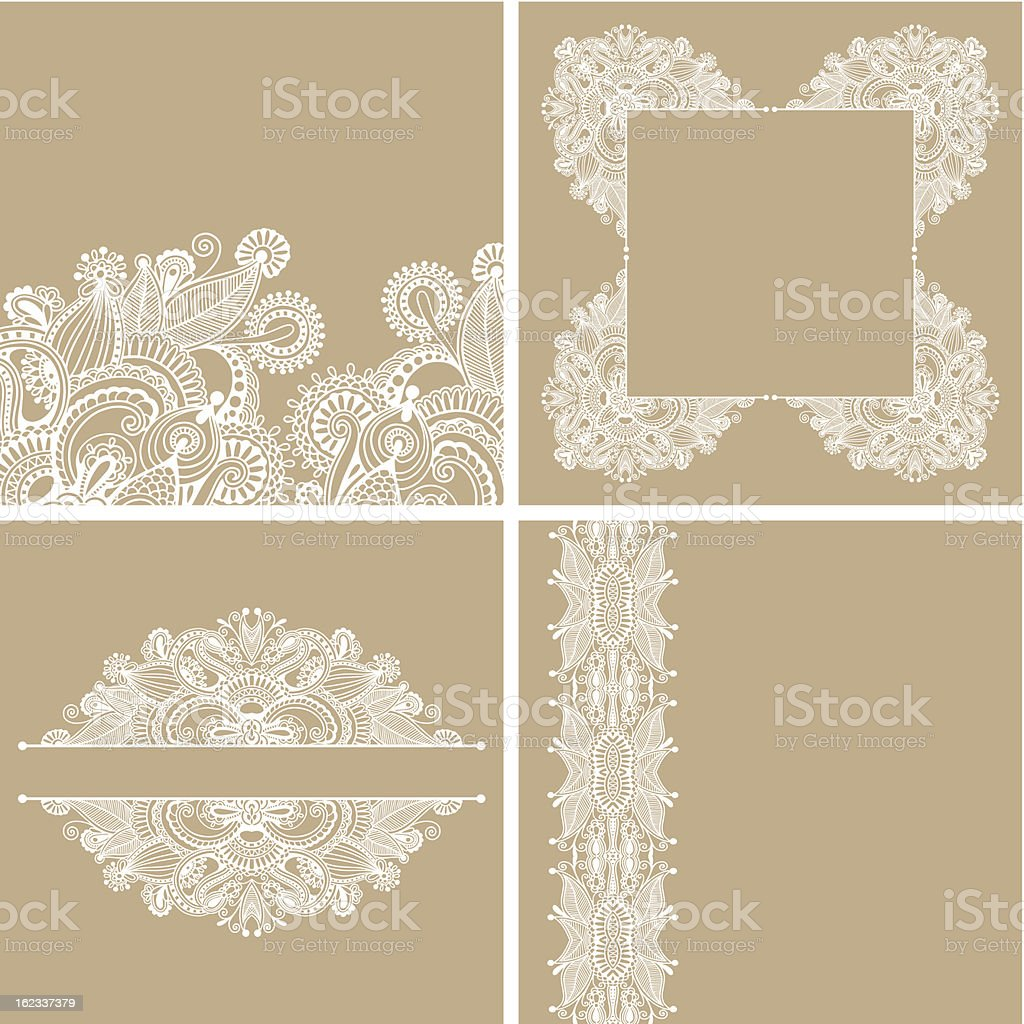 collection of ornate card royalty-free stock vector art