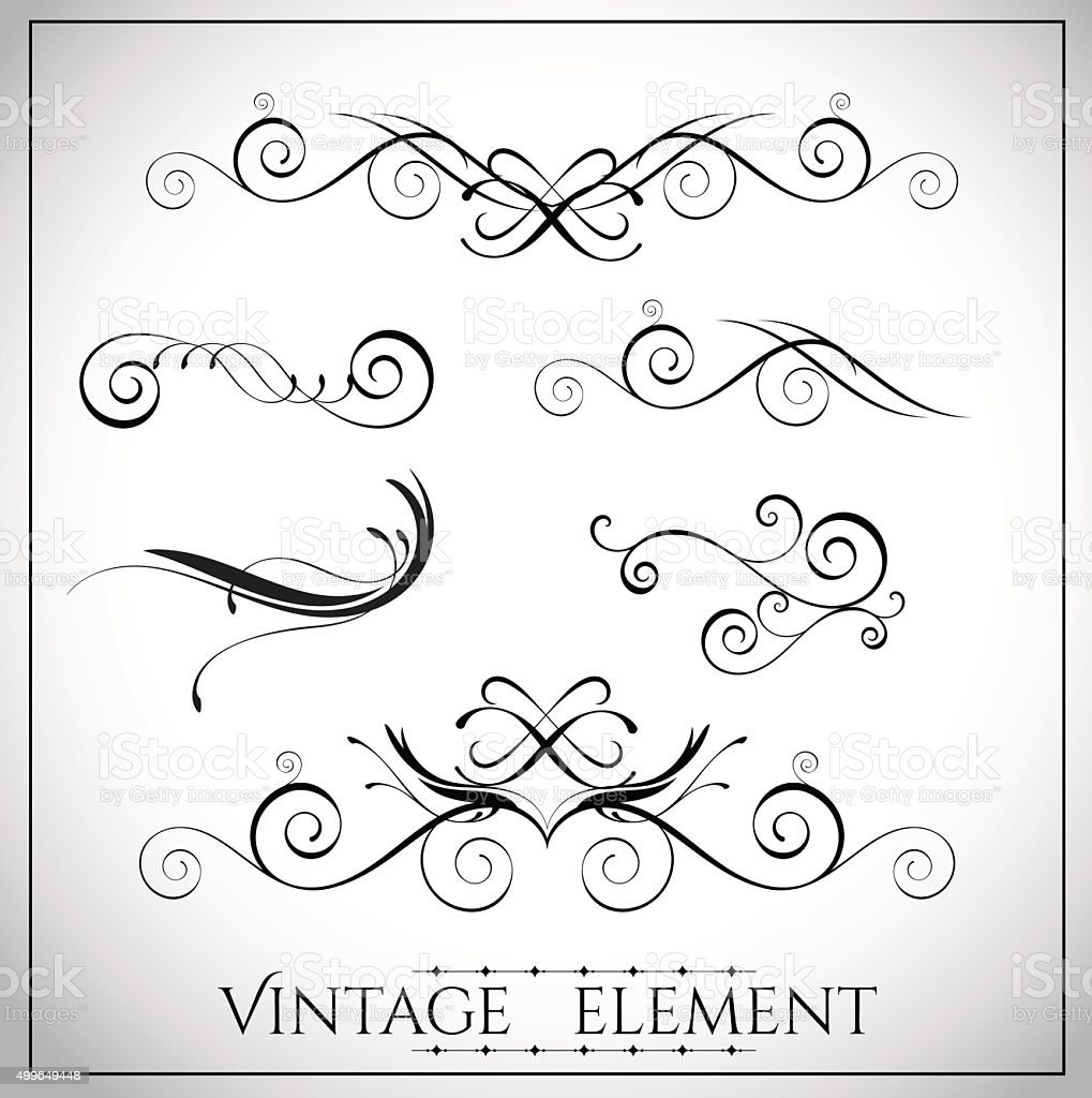 collection of page dividers and ornate headpieces vector art illustration