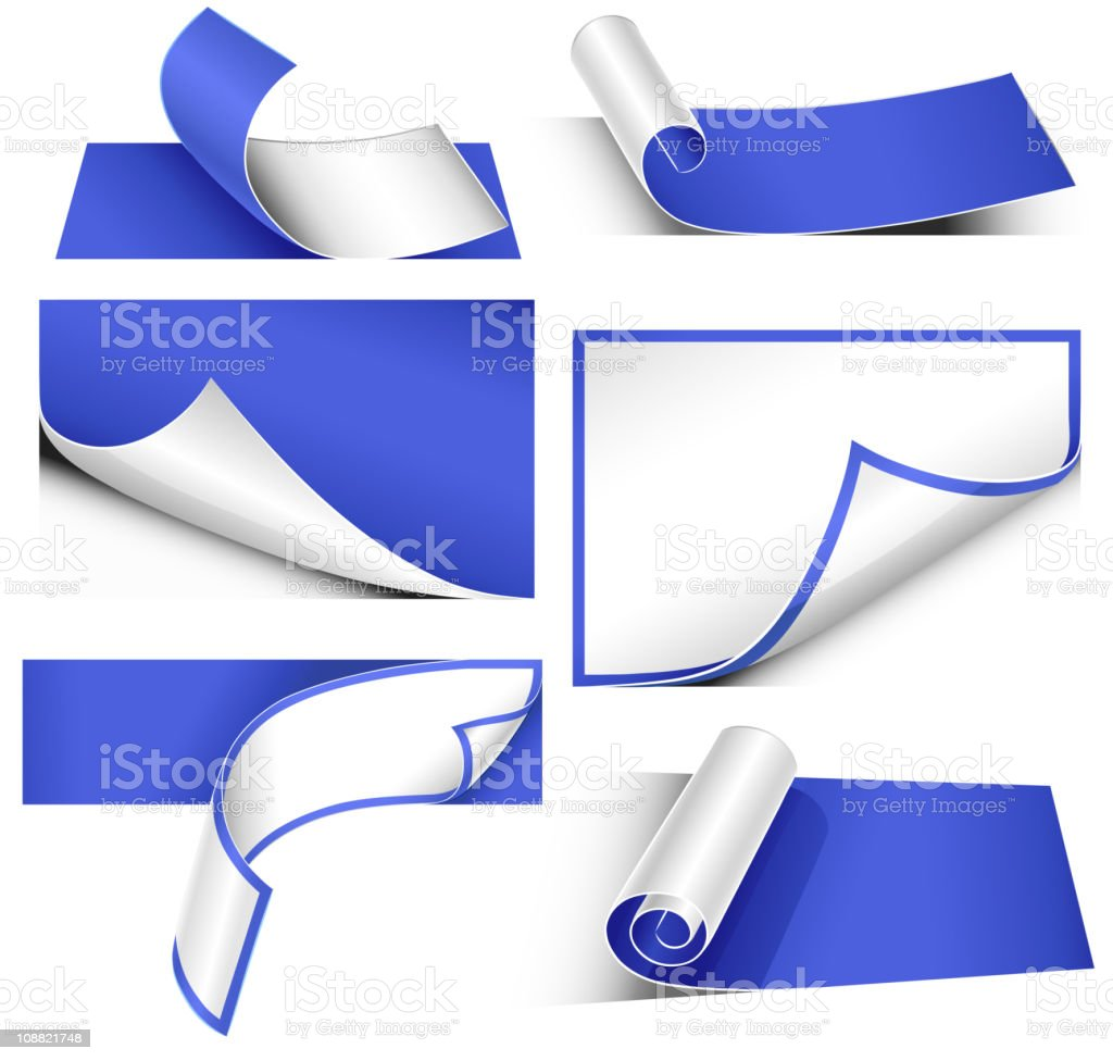 Collection of paper bends royalty-free stock vector art