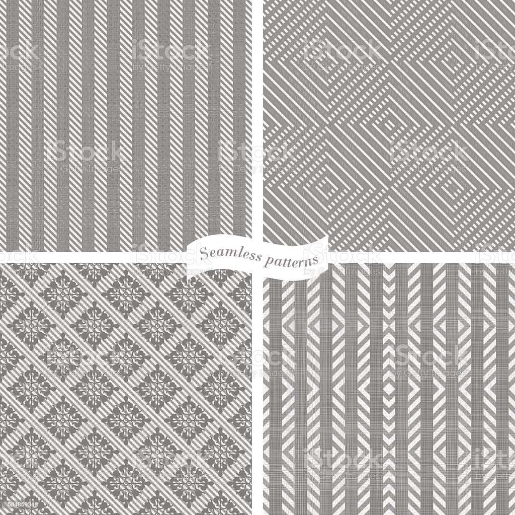 collection of seamless tweed pattern vector art illustration