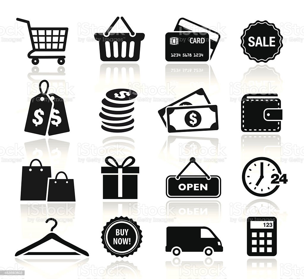Collection of Shopping Icons vector art illustration