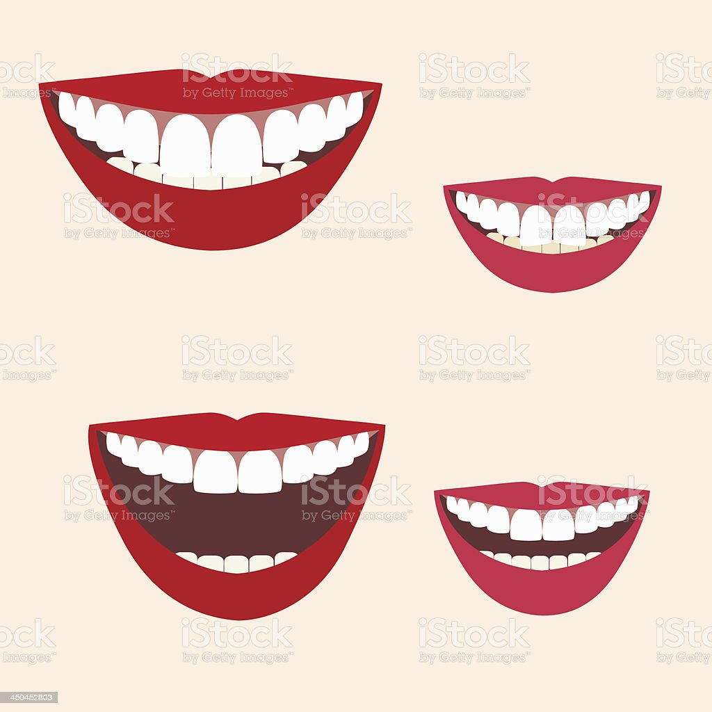 Collection of smiles vector art illustration