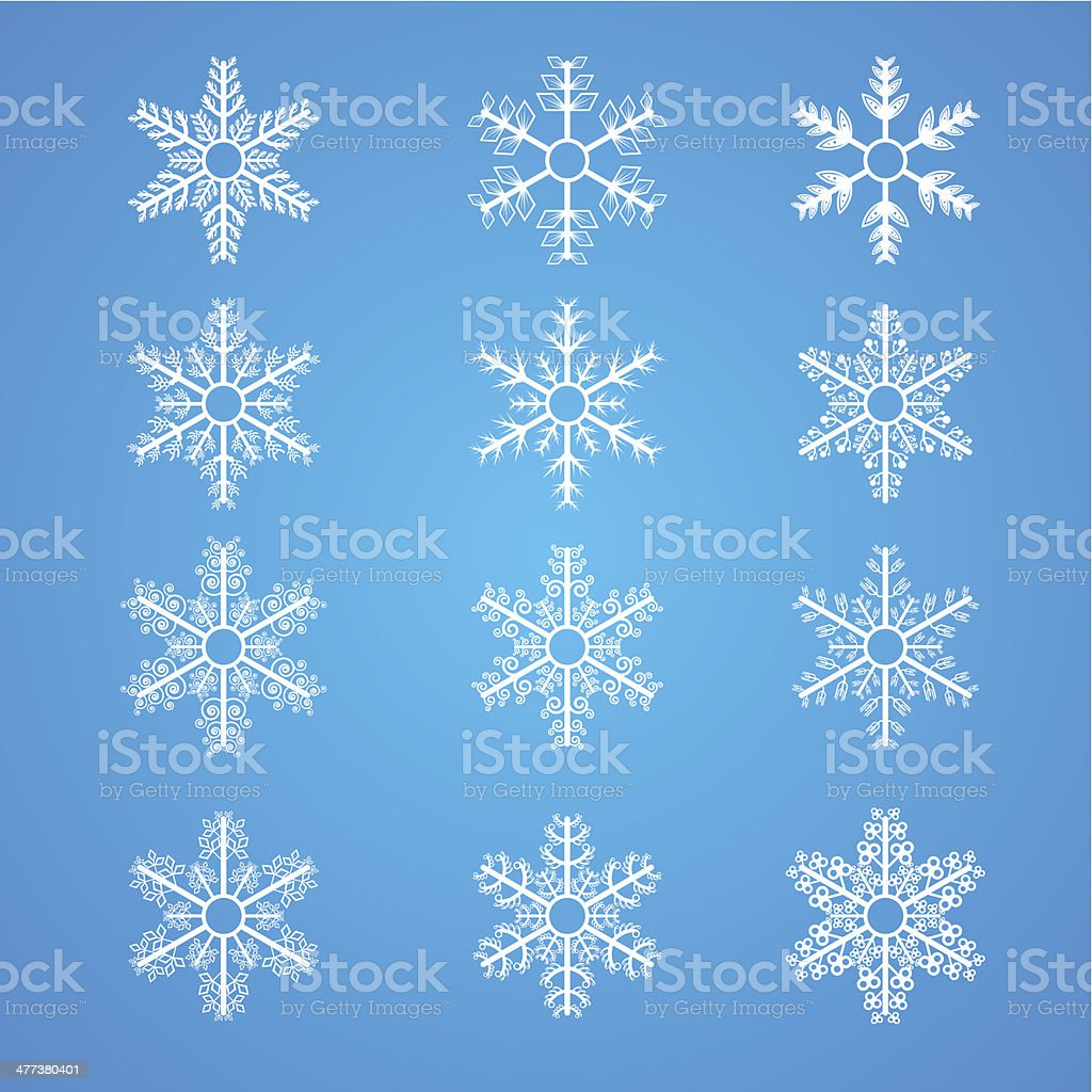 Collection of Snowflakes royalty-free stock vector art