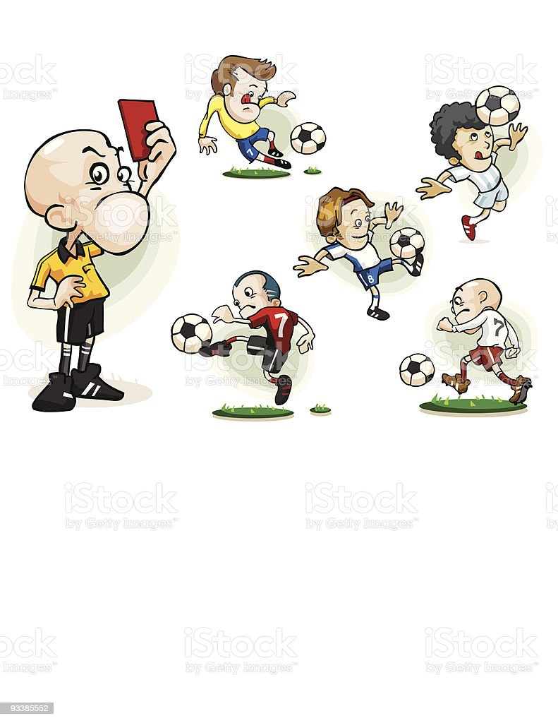 Collection of Soccer Vector royalty-free stock vector art