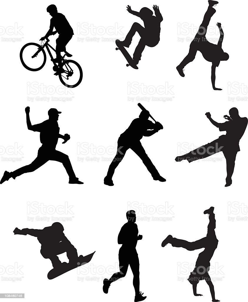 Collection of Sports People royalty-free stock vector art