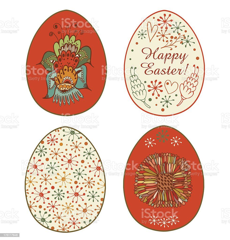 Collection of templates for eggs design royalty-free stock vector art