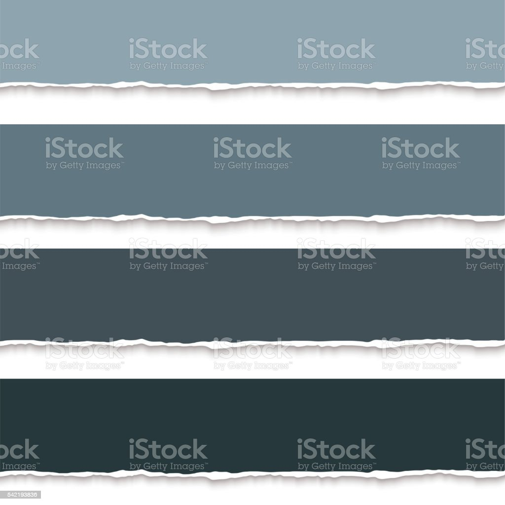 Collection of torn paper for notes, realistic vector illustration vector art illustration