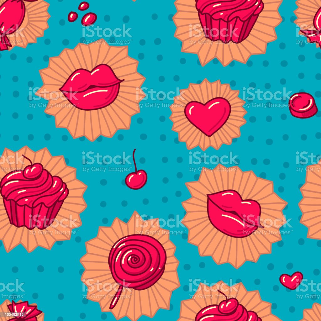 Collection of various candy. seamless pattern royalty-free stock vector art