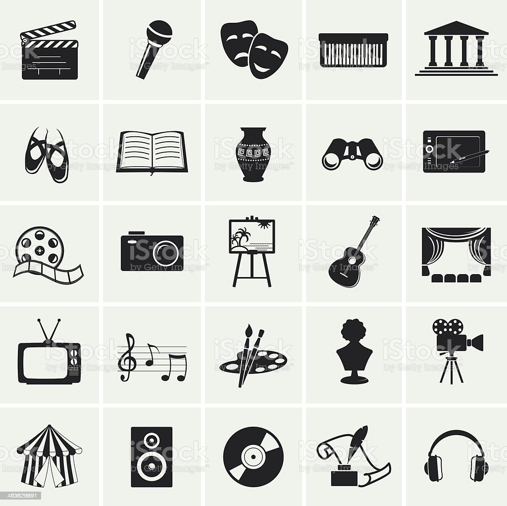 Collection of vector arts icons. vector art illustration