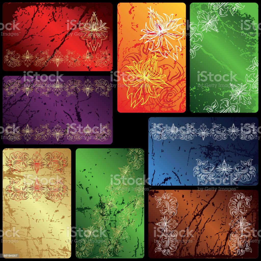 Collection of vector cards royalty-free stock vector art