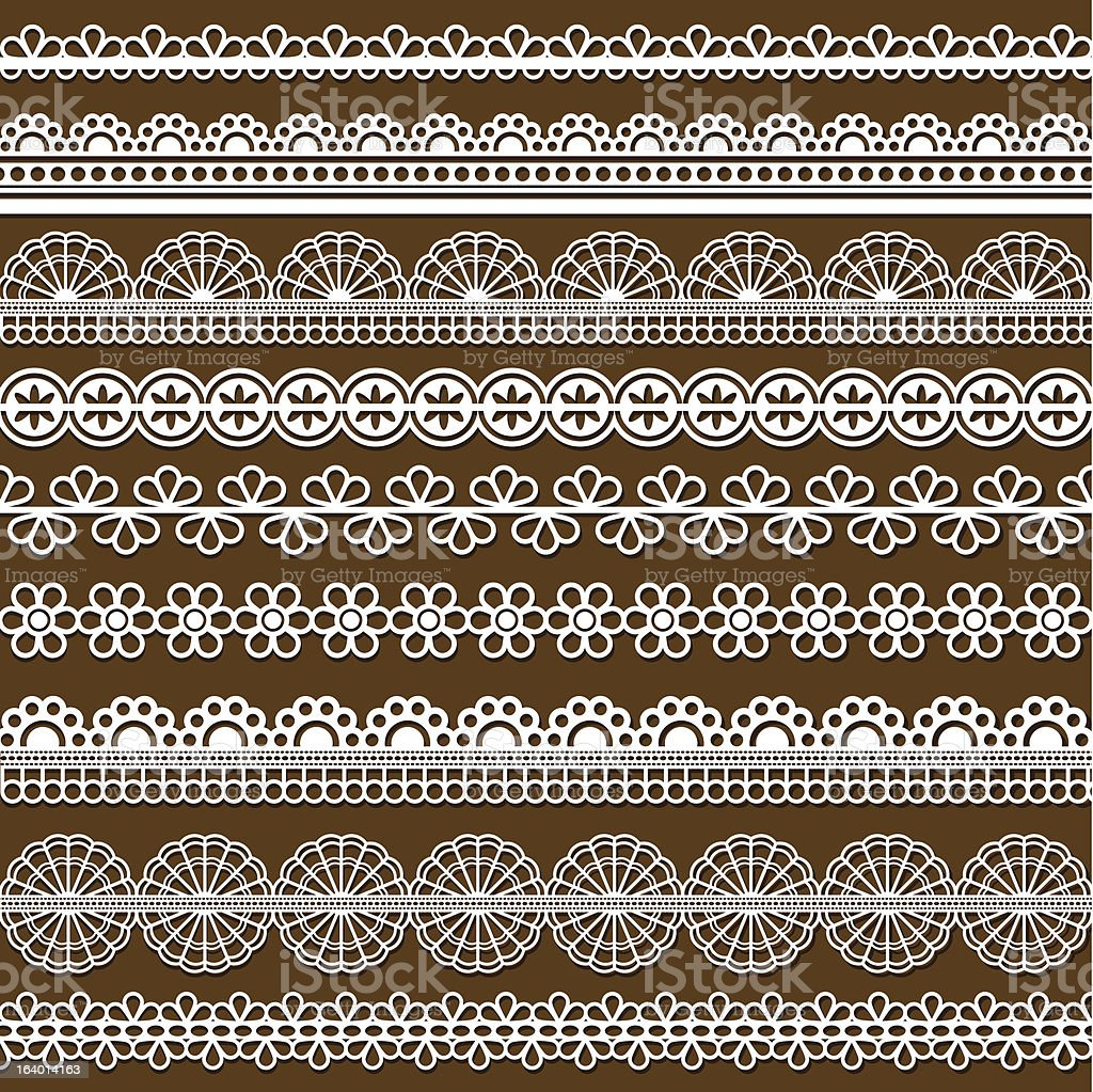 collection of vector lace royalty-free stock vector art