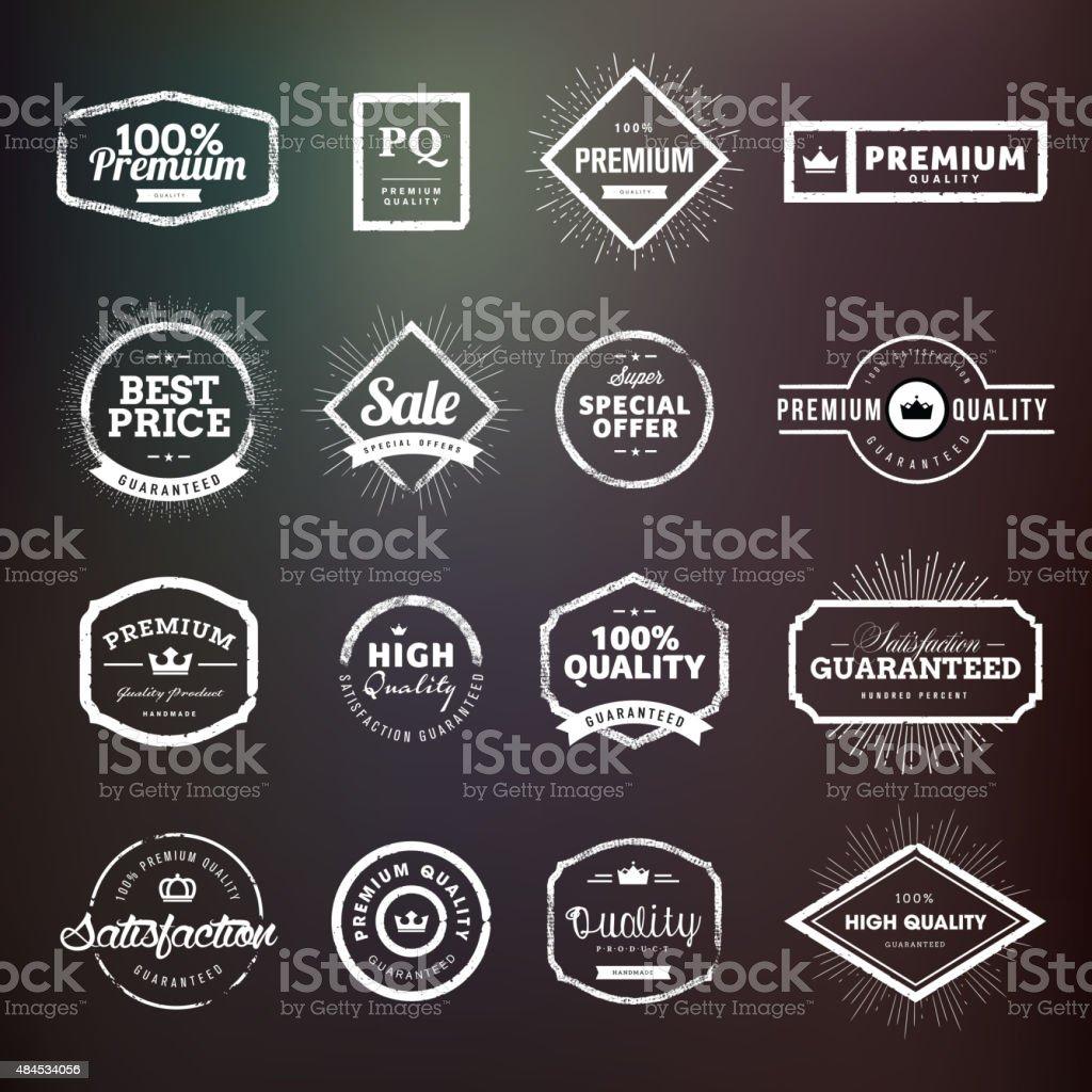 Colección de tarjetas de calidad premium y pegatinas para los diseñadores illustracion libre de derechos libre de derechos