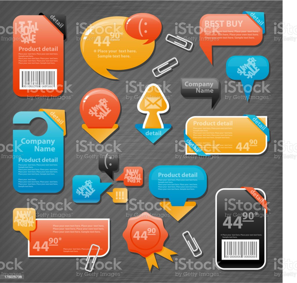 Collection of website elements royalty-free stock vector art