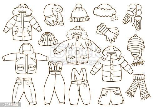Детские картинки раскраски одежда