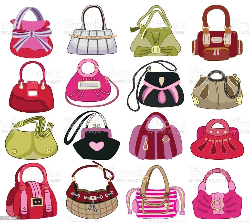collection og fashion handbag (vector illustration) vector art illustration