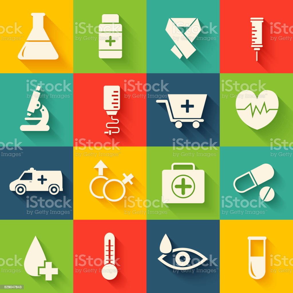 collection set of medical equpment backgrounds. Vector illustration elements icons vector art illustration