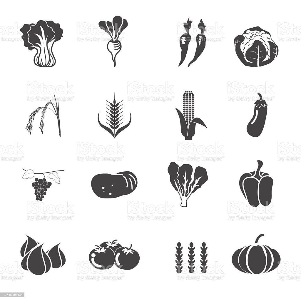 collection vegetables vector set vector art illustration