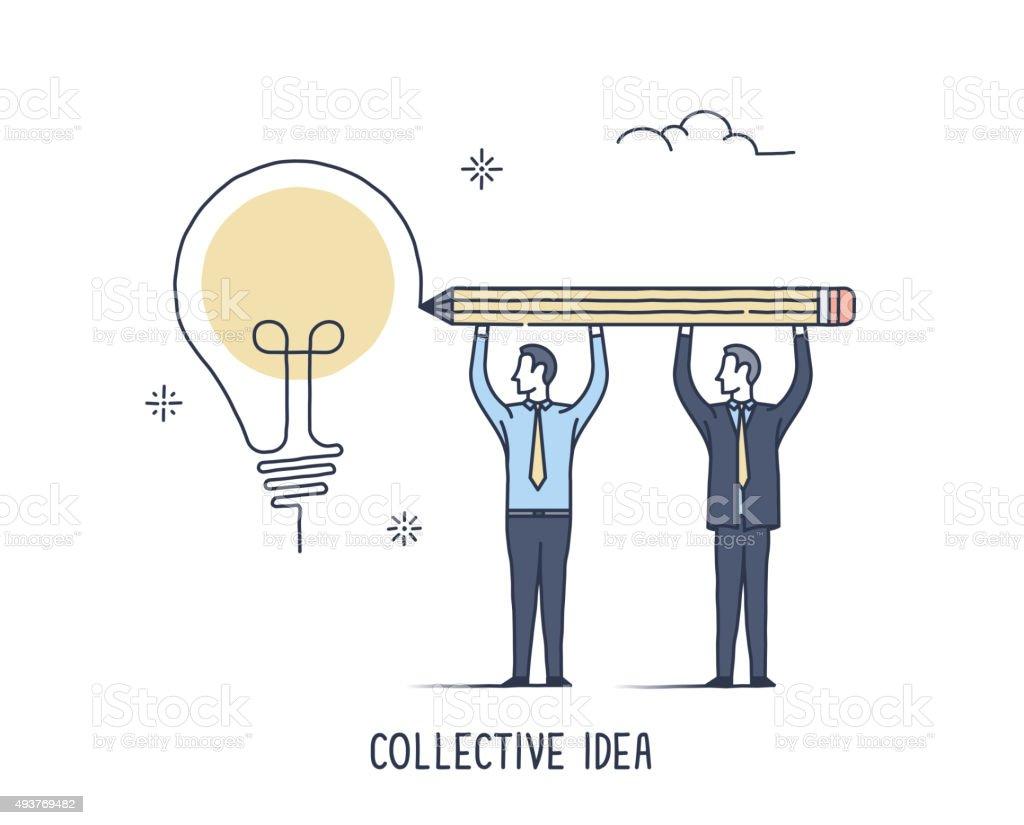 Collective Idea vector art illustration