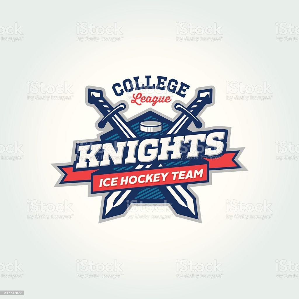College league sport team logo apparel concept vector art illustration