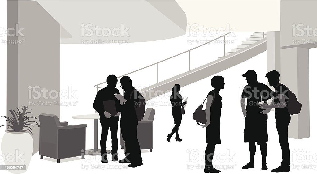 College Talk royalty-free stock vector art