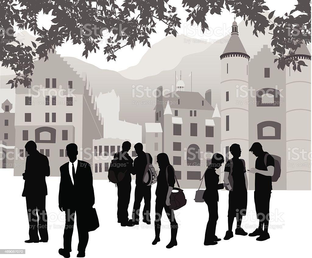 CollegeHeritage vector art illustration